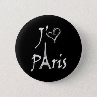 j'aime Paris 2 Inch Round Button