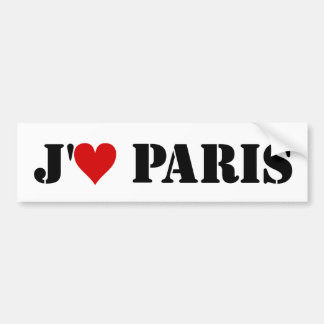 """J'aime Paris"" Bumper Sticker"