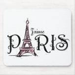 J'aime Paris Mousepad Tapis De Souris