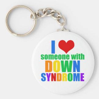 J'aime quelqu'un avec syndrome de Down Porte-clés