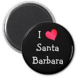 J'aime Santa Barbara Magnets Pour Réfrigérateur