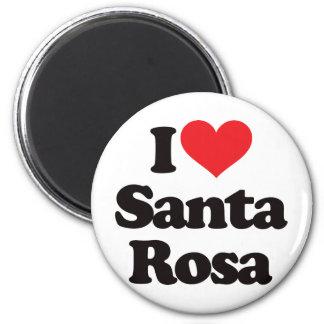 J'aime Santa Rosa Magnet Rond 8 Cm