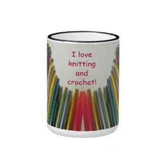 J'aime tricoter et fais du crochet la tasse