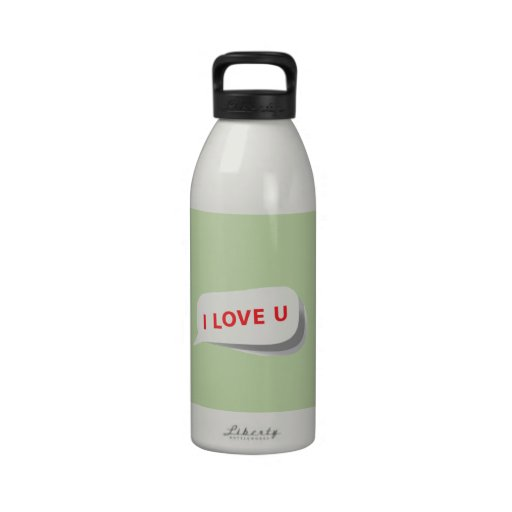 J'aime U ! Sur la racine de céleri élégante. Motif Bouteille D'eau Réutilisable