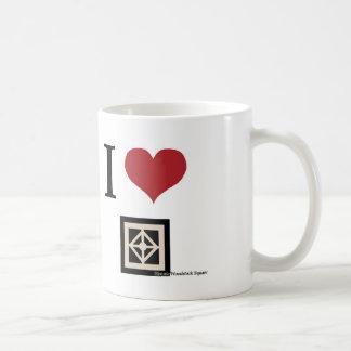 J'aime Woodstock (la tasse) Mug Blanc
