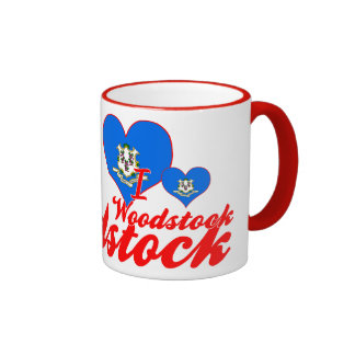J'aime Woodstock, le Connecticut Mug