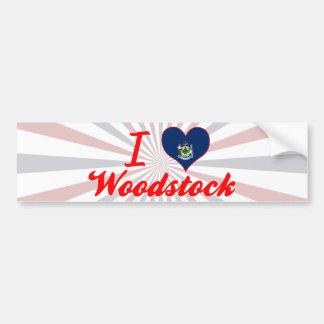J'aime Woodstock, Maine Autocollant De Voiture