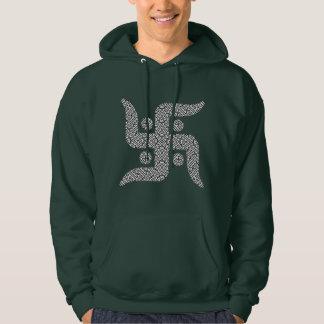 Jain Swastika Sayagata Hooded Sweatshirts