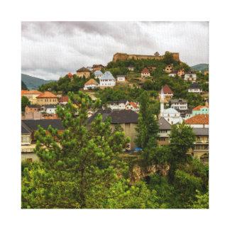 Jajce, Bosnia and Herzegovina Canvas Print