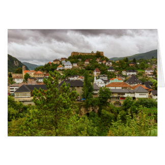 Jajce, Bosnia and Herzegovina Card