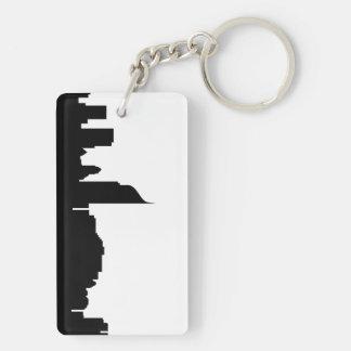 jakarta city skyline silhouette indonesia keychain