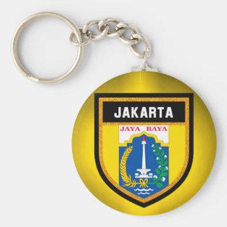 Jakarta Flag Basic Round Button Keychain