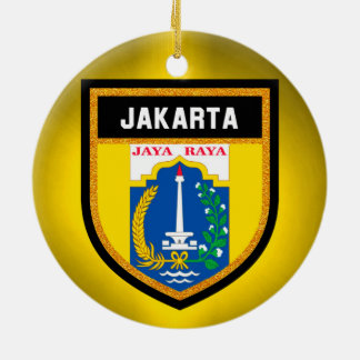 Jakarta Flag Ceramic Ornament