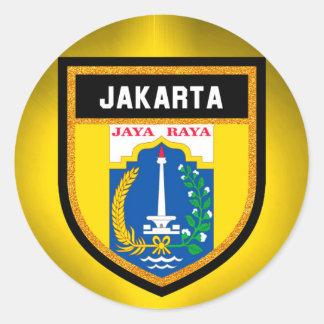 Jakarta Flag Classic Round Sticker
