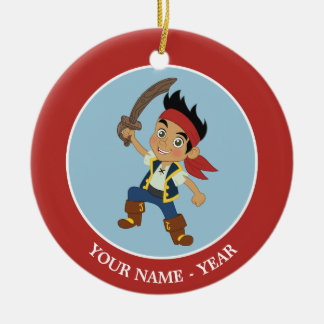 Jake and the Never Land Pirates | Captain Jake Round Ceramic Ornament