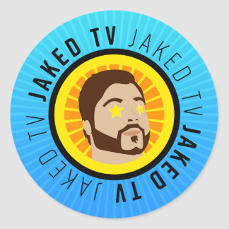 JakedTV Stickers! Classic Round Sticker