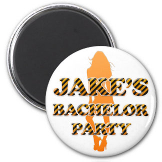 Jake's Bachelor Party 2 Inch Round Magnet