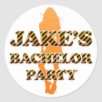 Jake's Bachelor Party Classic Round Sticker