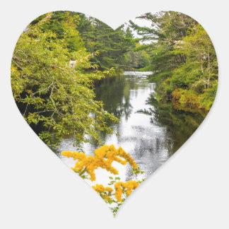 Jakes Falls Heart Sticker