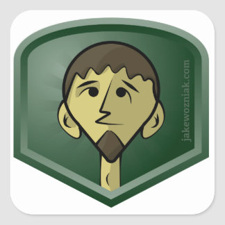 JakeWozniak.com Square Sticker