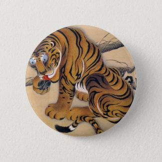 Jakuchu_ 虎図 2 inch round button