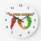 Jalapeno Business Large Clock