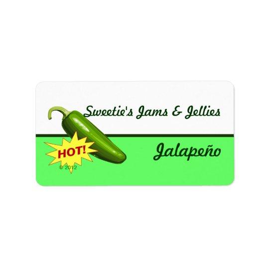 Jalapeño Pepper Labels