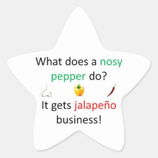 Jalapeño redone star sticker