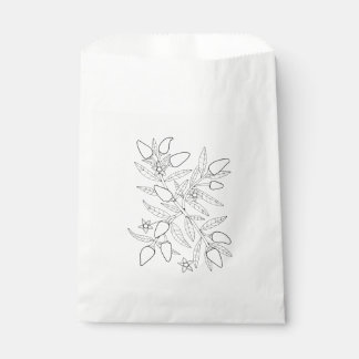 Jalapeno Spray Line Art Design Favour Bag