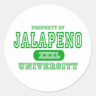 Jalapeno University Round Sticker