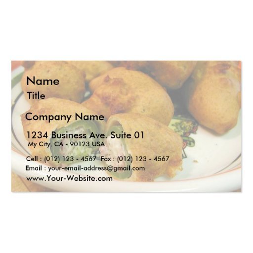 Jalapenos Stuffed Food Dinner Cooking Business Card Templates