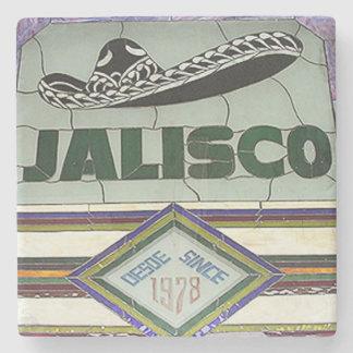 Jalisco, Buckhead Atlanta Marble Stone Coaster. Stone Beverage Coaster