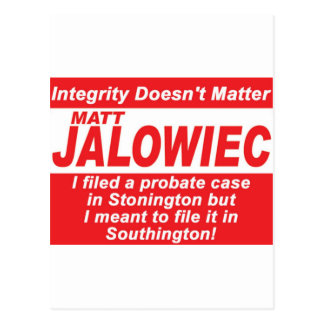 Jalowiec 2010 Campaign Sign Audit Postcard