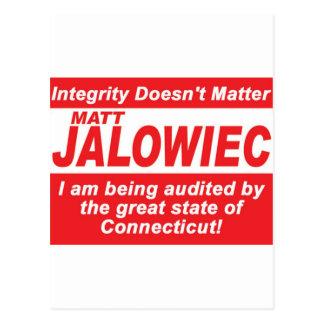 Jalowiec 2010 Campaign Sign southington Postcard