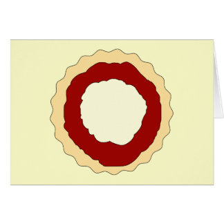 Jam and Whipped Cream Scone. Greeting Card