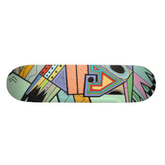 """Jam in Brooklyn"" by Ruchell Alexander (detail) Skateboard Deck"