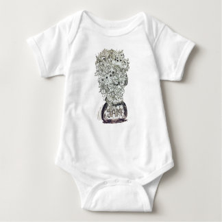Jam Jar doodle Baby Bodysuit