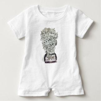 Jam Jar doodle Baby Romper