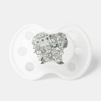 Jam Jar doodle Pacifier