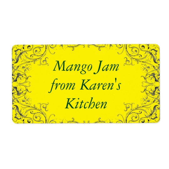 Jam label with leaf border