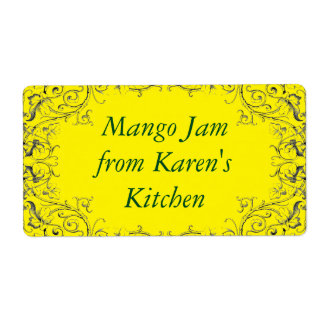 Jam label with leaf border shipping label