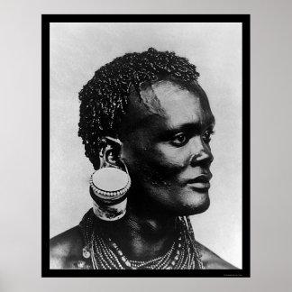 Jam Pot In Ear Kenya Africa 1895 Poster