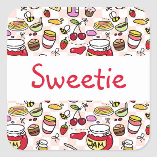 Jam sticker with text (editable text)