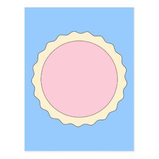 Jam Tart. Pale Pink. Postcard