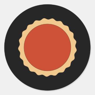 Jam Tart. Strawberry Red. Classic Round Sticker