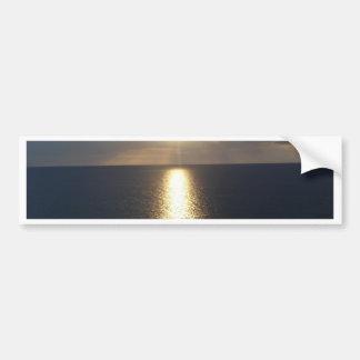 jamacian sunset car bumper sticker