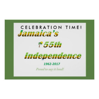 Jamaica 2017 Independence Poster - White