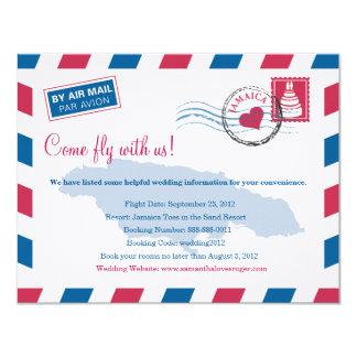 Jamaica Air Mail Wedding Travel Information Card