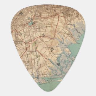 Jamaica Bay and Brooklyn Guitar Pick