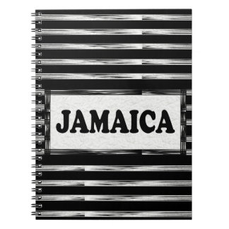Jamaica Black White Designer Modern Notebook